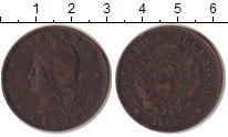 Изображение Монеты Аргентина 2 сентаво 1890 Медь VF