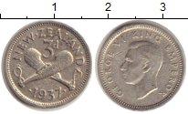 Изображение Монеты Новая Зеландия 3 пенса 1937 Серебро VF