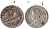 Изображение Монеты Австралия и Океания Новая Зеландия 3 пенса 1936 Серебро VF
