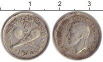 Изображение Монеты Новая Зеландия 3 пенса 1946 Серебро VF