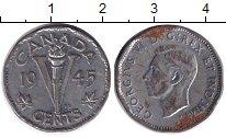 Изображение Монеты Канада 5 центов 1945 Медно-никель VF