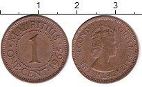 Изображение Мелочь Маврикий 1 цент 1969 Медь XF