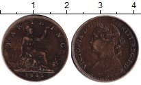 Изображение Монеты Европа Великобритания 1 фартинг 1885 Медь VF