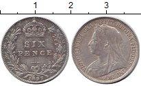 Изображение Монеты Европа Великобритания 6 пенсов 1897 Серебро XF