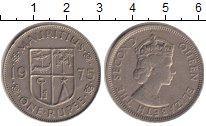 Изображение Монеты Маврикий 1 рупия 1975 Медно-никель XF-