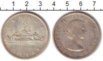 Изображение Монеты Северная Америка Канада 1 доллар 1963 Серебро XF