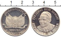 Изображение Монеты Африка Нигер 500 франков 1960 Серебро Proof