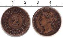 Изображение Монеты Африка Маврикий 2 цента 1878 Медь VF