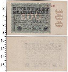 Изображение Банкноты Веймарская республика 100000000 марок 1923  XF