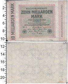 Изображение Банкноты Веймарская республика 10000000000 марок 1923  XF