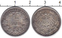 Изображение Монеты Германия 1/2 марки 1915 Серебро VF D
