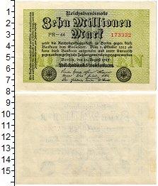 Изображение Банкноты Веймарская республика 10000000 марок 1923  XF+