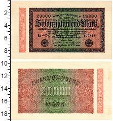 Изображение Банкноты Веймарская республика 20000 марок 1923  XF выпуск 20 февраля 19