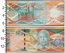 Изображение Банкноты Северная Америка Барбадос 50 долларов 2013  UNC-
