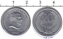 Изображение Мелочь Южная Америка Уругвай 20 сентесим 1965 Медно-никель XF