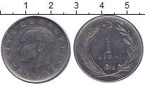 Изображение Монеты Азия Турция 1 лира 1970 Медно-никель XF