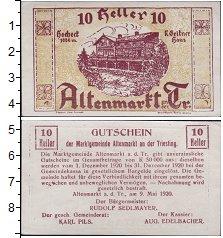 Изображение Банкноты Германия : Нотгельды 10 хеллеров 1920  XF
