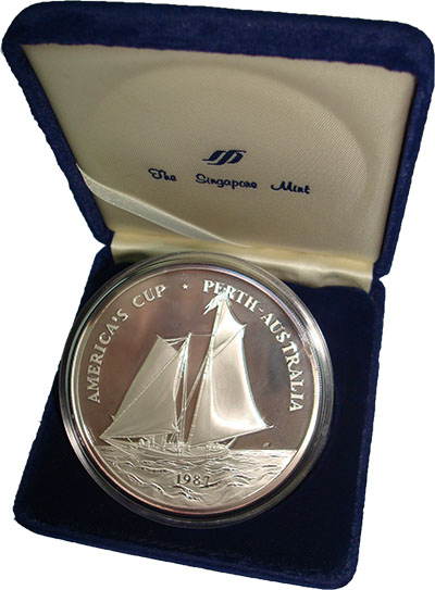 Изображение Подарочные монеты Самоа Парусный спорт 1987 Серебро Proof