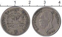 Изображение Монеты Северная Америка Гаити 5 сентим 1905 Медно-никель VF