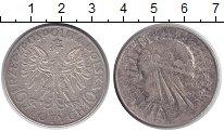Изображение Монеты Польша 10 злотых 1932 Серебро XF- Девушка в венке