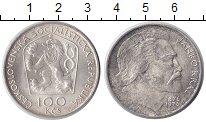 Изображение Монеты Чехословакия 100 крон 1976 Серебро UNC- 100 лет со дня смерт