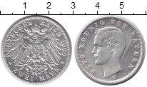Изображение Монеты Бавария 2 марки 1905 Серебро VF Отто