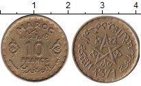Изображение Монеты Африка Марокко 10 франков 1952 Медь XF