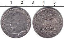 Изображение Монеты Германия Гессен-Дармштадт 2 марки 1904 Серебро XF-