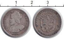 Изображение Монеты Панама 5 сентесим 1904 Серебро XF