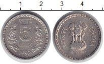 Изображение Монеты Азия Индия 5 рупий 1992 Медно-никель XF