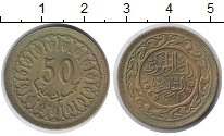 Изображение Монеты Африка Тунис 50 миллим 1960 Латунь UNC-