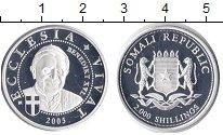 Изображение Монеты Африка Сомали 2000 шиллингов 2005 Серебро Proof-