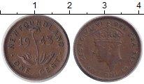 Изображение Монеты Ньюфаундленд 1 цент 1943 Медь XF