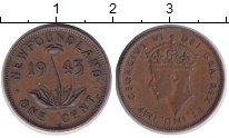 Изображение Монеты Ньюфаундленд 1 цент 1943 Медь XF Георг VI.
