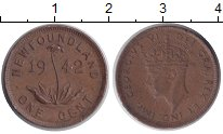 Изображение Монеты Канада Ньюфаундленд 1 цент 1942 Медь XF