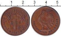 Изображение Монеты Африка Камерун 1 франк 1943 Медь XF