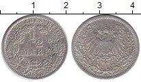 Изображение Монеты Германия 1/2 марки 1913 Серебро VF