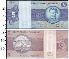 Изображение Банкноты Южная Америка Бразилия 5 крузейро 0  UNC