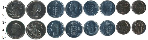 Изображение Наборы монет Европа Бельгия Бельгия 1980 1980  UNC-