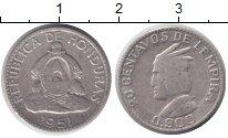 Изображение Монеты Северная Америка Гондурас 20 сентаво 1951 Серебро XF