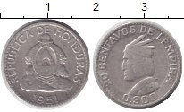 Изображение Монеты Гондурас 20 сентаво 1951 Серебро XF