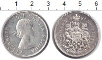 Изображение Монеты Канада 50 центов 1963 Серебро XF