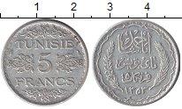 Изображение Монеты Африка Тунис 5 франков 1935 Серебро XF