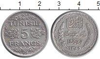Изображение Монеты Африка Тунис 5 франков 1936 Серебро XF
