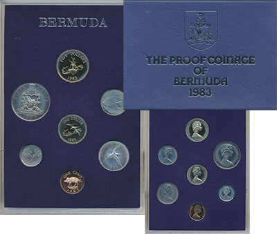 Изображение Подарочные монеты Великобритания Бермудские острова Набор 1983 года 1983  Proof