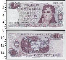 Изображение Банкноты Южная Америка Аргентина 10 песо 0  UNC-