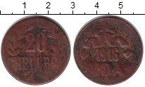 Изображение Монеты Германия Немецкая Африка 20 хеллеров 1916 Медь VF