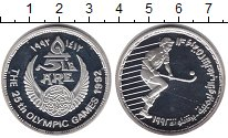 Изображение Монеты Египет 5 фунтов 1992 Серебро Proof- Олимпиада в Барселон