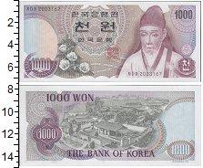 Изображение Банкноты Корея 1000 вон 1983  UNC