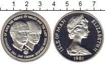 Изображение Монеты Великобритания Остров Мэн 1 крона 1981 Серебро Proof